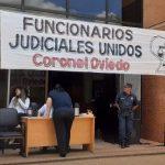 Funcionarios del Poder Judicial de Coronel Oviedo en huelga desde hoy