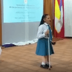 Estudiante con discapacidad visual presentó proyecto educativo