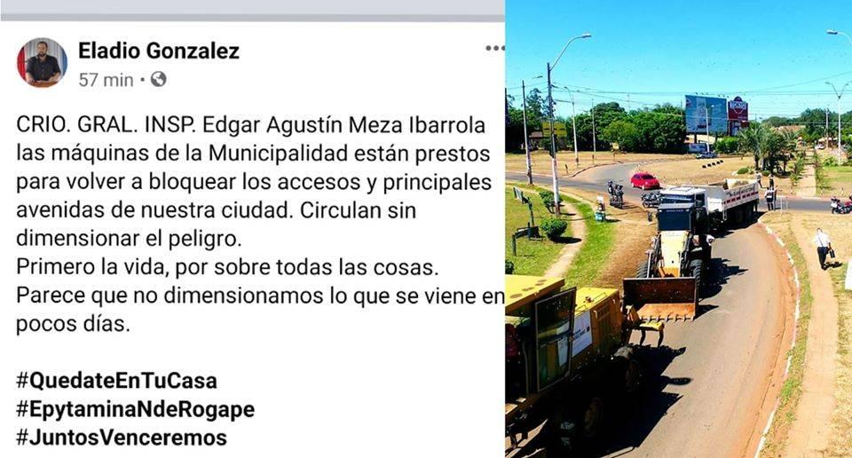 Intendente se ofrece para cerrar accesos a la ciudad en esta Semana Santa