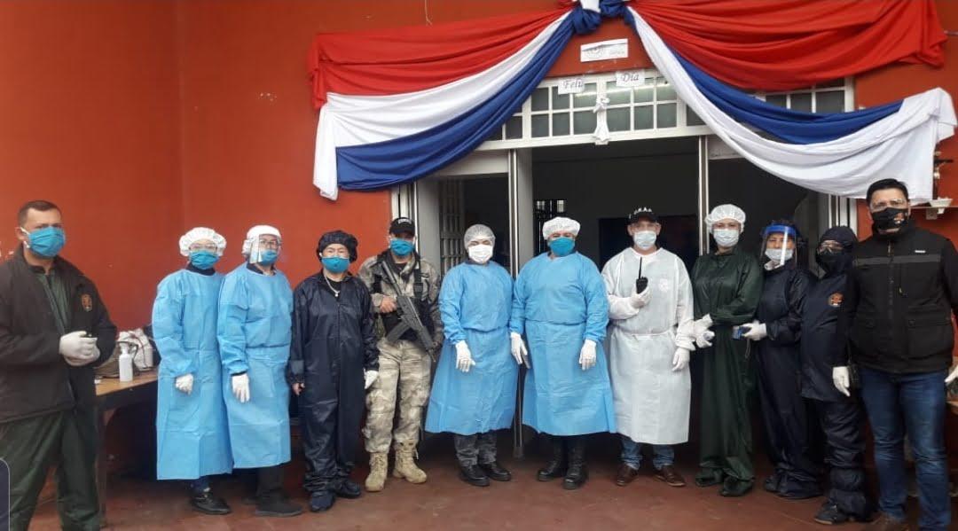 Visitas en la Penitenciaría de Coronel Oviedo se realizan con intensivos controles sanitarios
