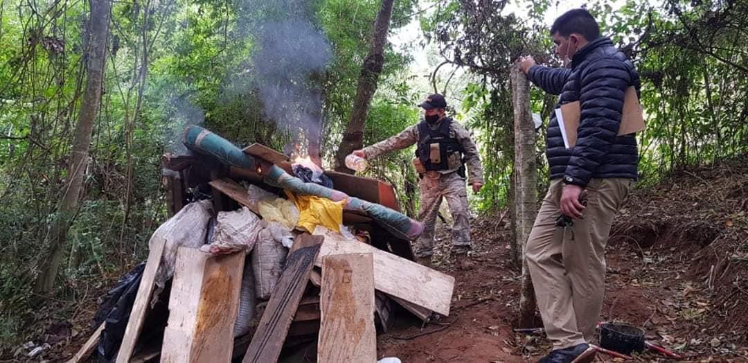 Destruyen más de 21 toneladas de marihuana en Caaguazú