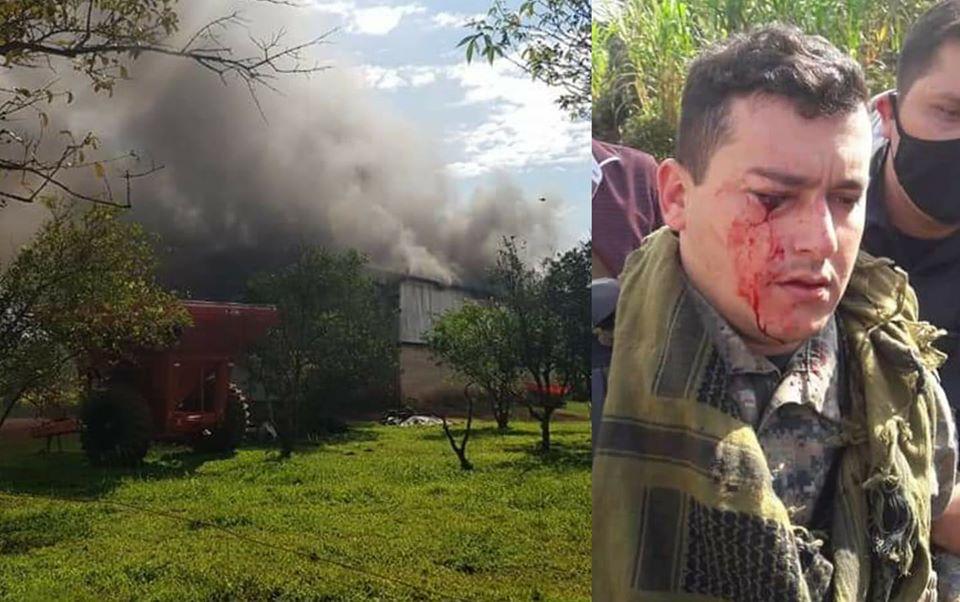 Sin tierras quemaron maquinarias y atacaron a policías en Repatriación