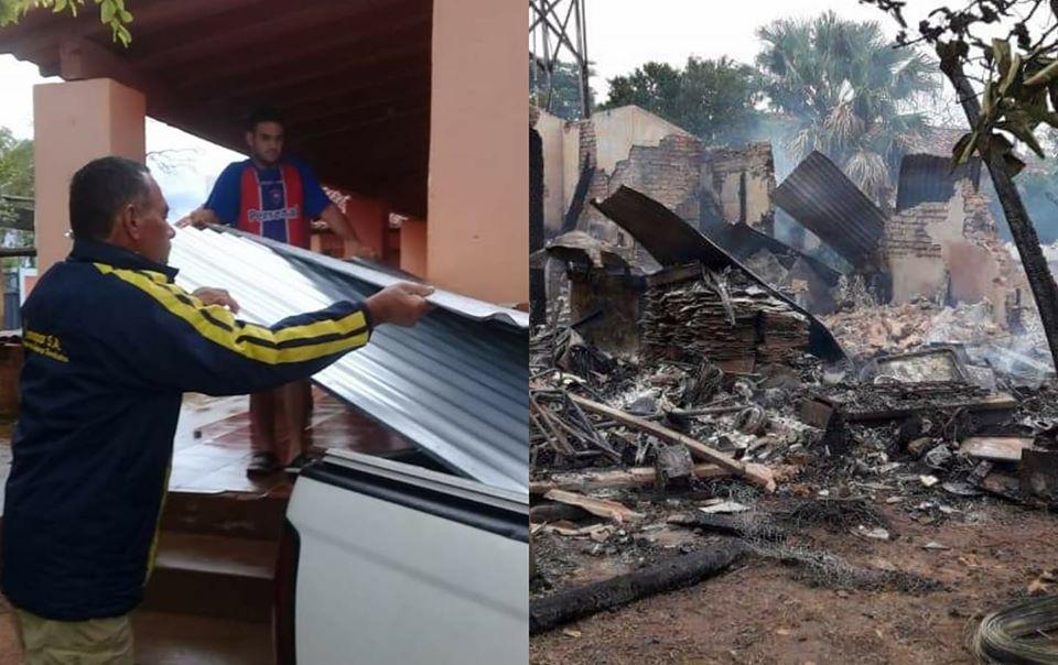 Gobernación ayuda a familias que perdieron sus viviendas en incendio