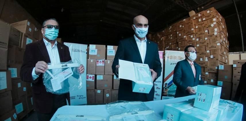 Ministerio de Salud recibe 25 toneladas de insumos