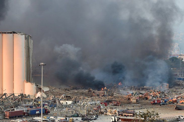 """""""Innumerable"""" número de muertos y heridos por fuerte explosión en Beirut"""