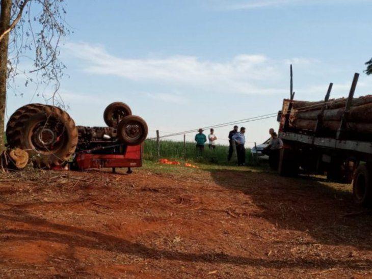 Adolescente murió aplastado por un tractor