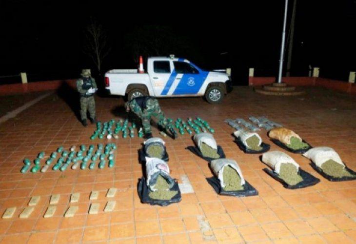 Dos paraguayos caen en Argentina con 215 kilos de marihuana