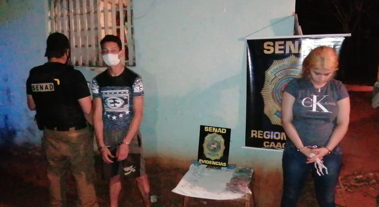 Detienen a una pareja de microtraficantes en Caaguazú