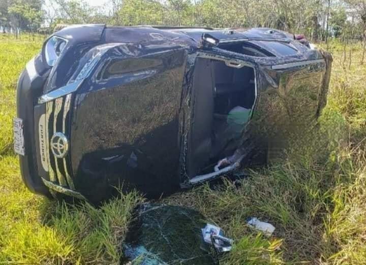 Hija del Gobernador de Alto Paraná se accidenta en Caaguazú