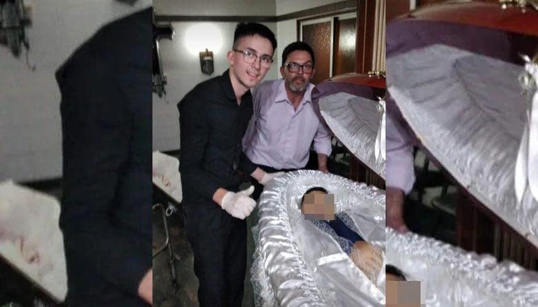 """Me quieren matar"", la desesperación del hombre del ataúd de Maradona"