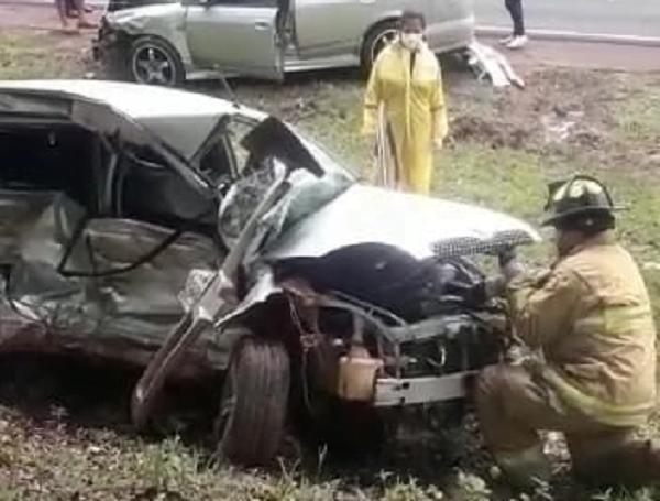 Accidente de tránsito en Coronel Oviedo