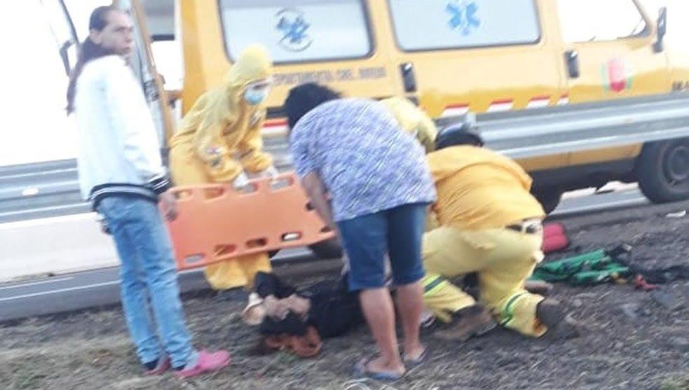 Vallado protector de la Ruta PY02 ocasiona accidente