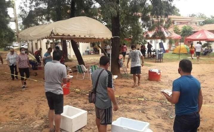Ovetenses solidarios se unen para llevar alimentos a familiares de pacientes internados