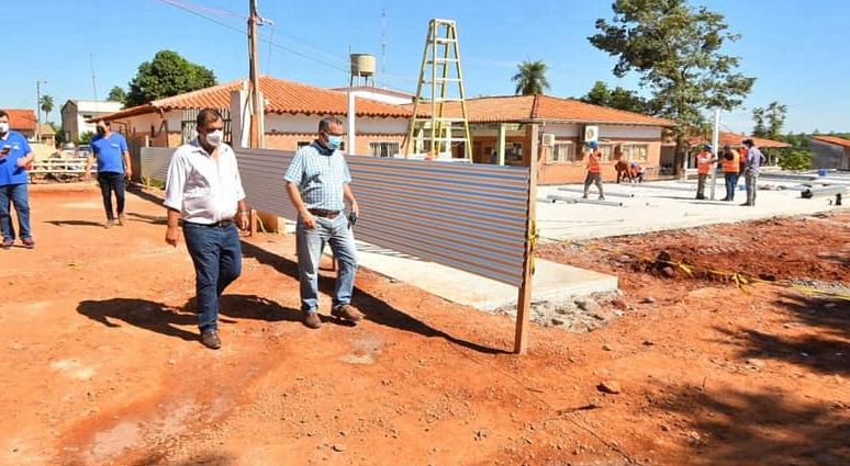 Caazapá: Verifican obras en el pabellón de contingencia