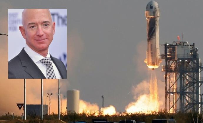 El hombre más rico del mundo, Jeff Bezos, alcanza el espacio: viaje duró 10 minutos