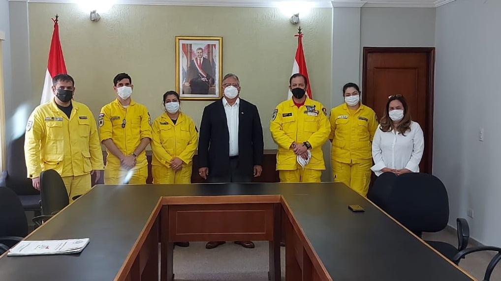 Gobernador entregó aporte a Bomberos Voluntarios del departamento