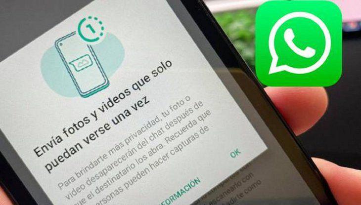 """WhatsApp activa nueva función que permite ver fotos y videos """"una sola vez"""""""