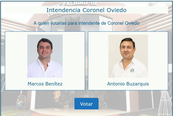 A quien votarias para intendente